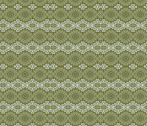 Green and White  fabric by charldia on Spoonflower - custom fabric