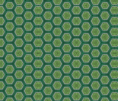 Green Honeycomb fabric by charldia on Spoonflower - custom fabric