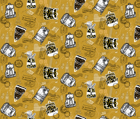 European Backpacking fabric by graceful on Spoonflower - custom fabric