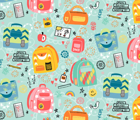 School Daydreams fabric by belinda_sigs on Spoonflower - custom fabric