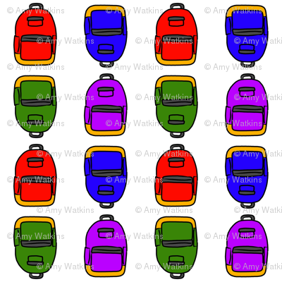 Colorful Backpacks