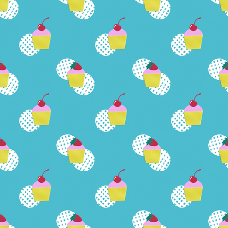 Cupcakes (small) fabric by siya on Spoonflower - custom fabric
