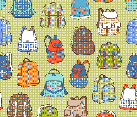 polka dot backpacks fabric by catalinakim on Spoonflower - custom fabric