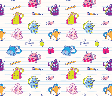 Happy-happy-backpacks fabric by tracymattocks on Spoonflower - custom fabric