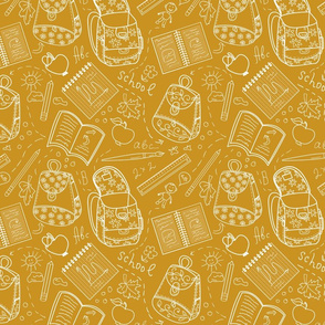 School orange pattern