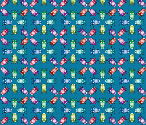 Crystal Gem Jewel Beetles fabric by roszilla on Spoonflower - custom fabric