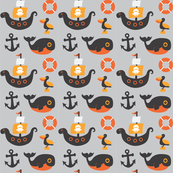 Out to Sea - Orange