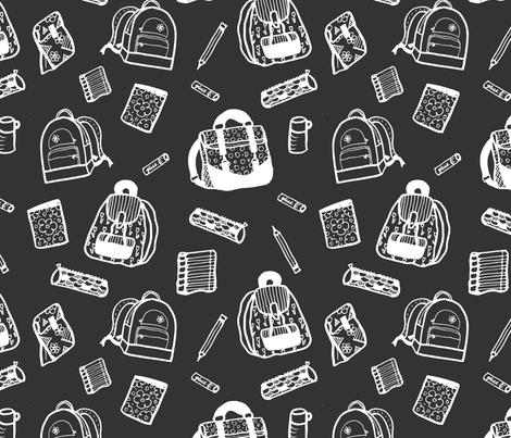 Back to School Backpacks fabric by radianthomestudio on Spoonflower - custom fabric