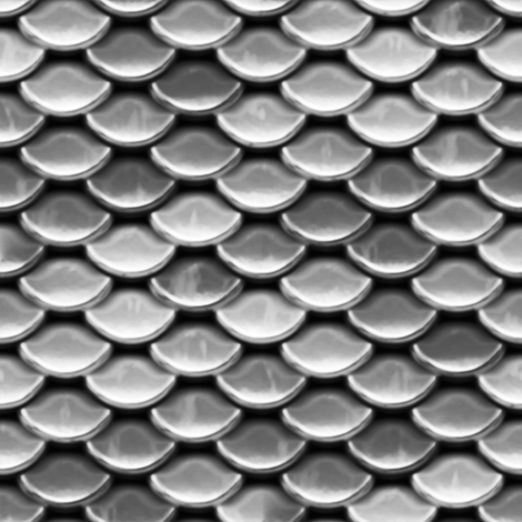 Scales ~ Silver fabric by peacoquettedesigns on Spoonflower - custom fabric