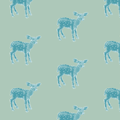 Dear Deer in Shabby Chic Blue