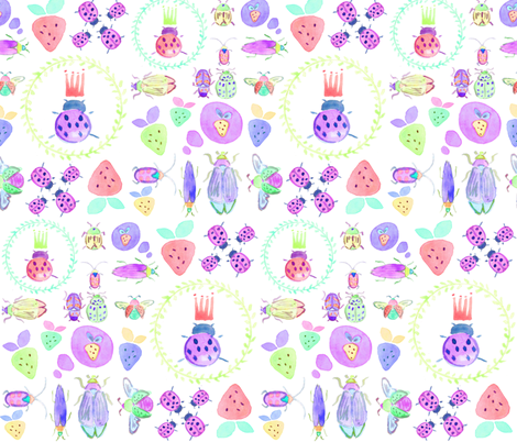 winged ones in white fabric by erinanne on Spoonflower - custom fabric