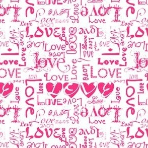 Love Letters - Pink & White