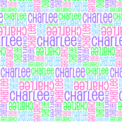 Personalised Name Design - Purple Pink Green Blue