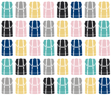 BackPack pattern fabric by miss_honeybird on Spoonflower - custom fabric