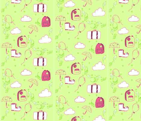 back_in_autumn fabric by renateandtheanthouse on Spoonflower - custom fabric