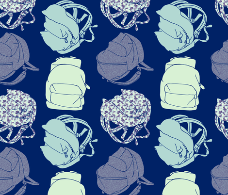 backpack fabric by karinka on Spoonflower - custom fabric