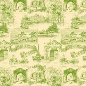 Les Environs de Paris ~ Toile de Jouy ~ Bracken on Trianon Cream