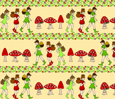 back to pixie school fabric by sef on Spoonflower - custom fabric