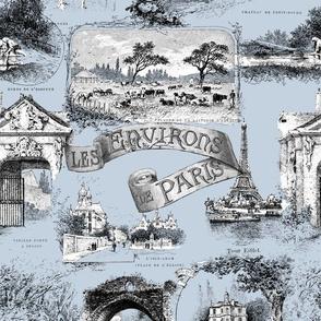 Les Environs de Paris ~ Toile de Jouy ~ Versailles Fog