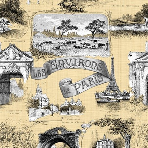 Les Environs de Paris ~ Toile de Jouy ~ Trianon Cream ~ Linen Luxe