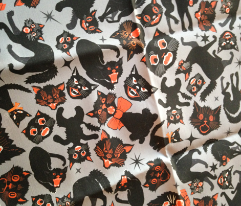 Halloween Cats Light Gray