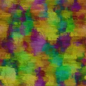 Art Paint Canvas Tie Dye Colorful Purple Green Yellow Orange