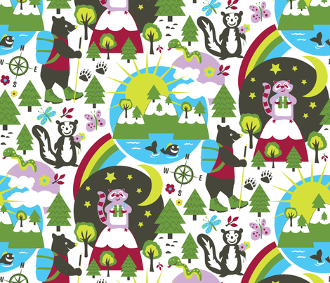 The Great Outdoors fabric by designs_by_lisa_k on Spoonflower - custom fabric