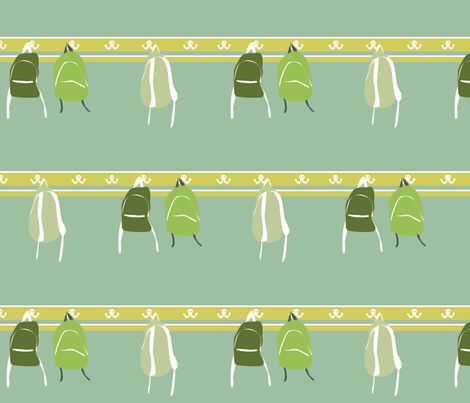 Backpacks on Hooks fabric by sarah845 on Spoonflower - custom fabric