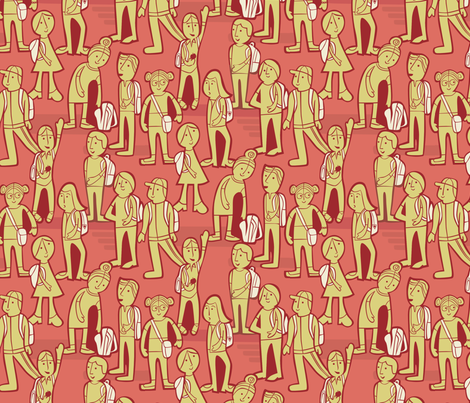 Chatty Schoolyard fabric by chris_jorge on Spoonflower - custom fabric