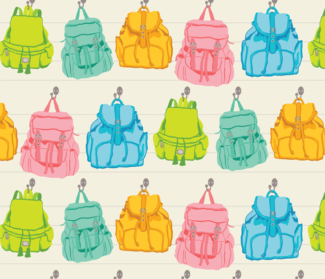 Backpacks in the Cottage fabric by thepaperdrawer on Spoonflower - custom fabric