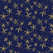 Sparkly stars on navy blue