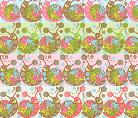 Snails All Packed fabric by paula's_designs on Spoonflower - custom fabric