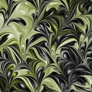 Leaf-Black-Swirl