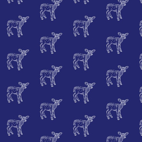 Deer Deer on Navy Blue