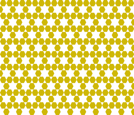 Hexagons  - Golden by Andrea Lauren fabric by andrea_lauren on Spoonflower - custom fabric