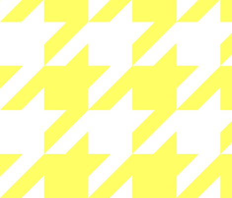 the houndstooth check ~ Buttercup ~ 4 inch checks