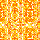 Bright Yellow & Orange Abstract Sunshine Pattern