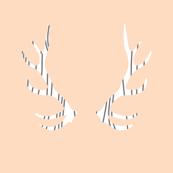 fois bois antlers // blush