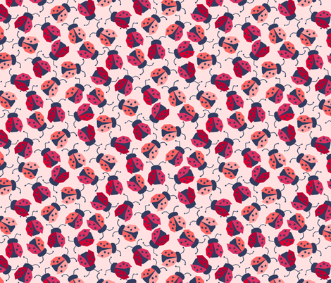 Faceted Ladybugs fabric by badger&bee on Spoonflower - custom fabric