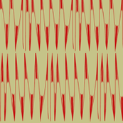 Red Spikes on Tan
