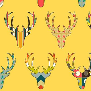 RETRO DEER HEAD YELLOW