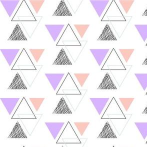 geo triangles // purple,pink,mint