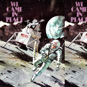 vintage retro kitsch astronauts science fiction futuristic spaceships rockets planets space man america galaxy shuttle pilots USA moon pop art sci fi