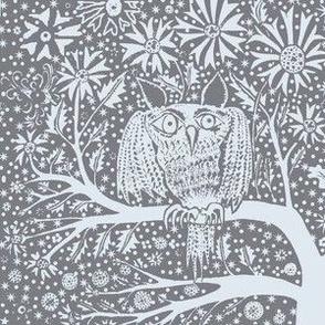 Snow owl gray