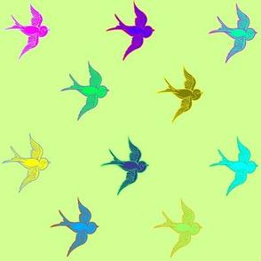 kchadburn's Starburst Color Birds