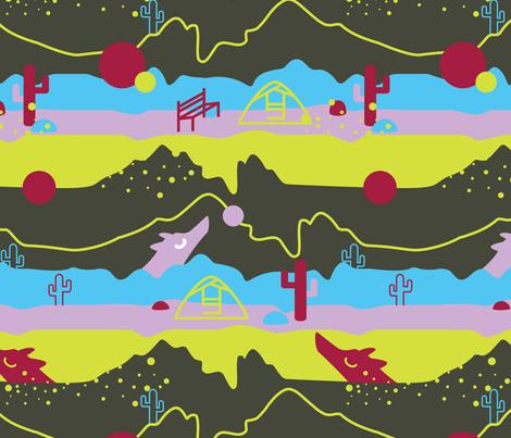 Hiking with Dali fabric by annaboo on Spoonflower - custom fabric