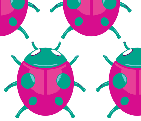 Lady bug 001 fabric by michelerickitt on Spoonflower - custom fabric