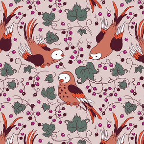 Vintage Style Bird Berries