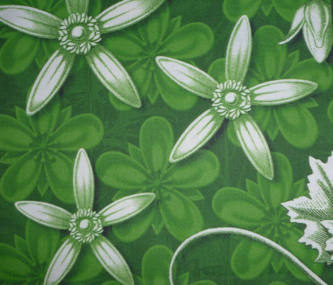 leaf quilt blocks green