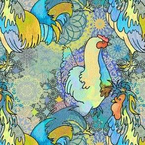 Chickens on spirals ♥